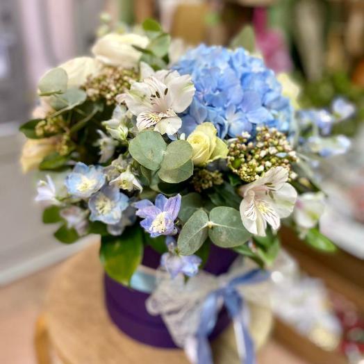 Весенние Цветы в коробке с кружевом