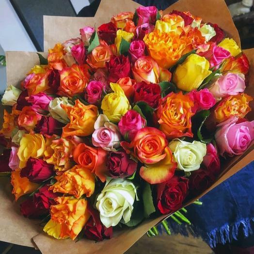 Роза Кения микс 50 см