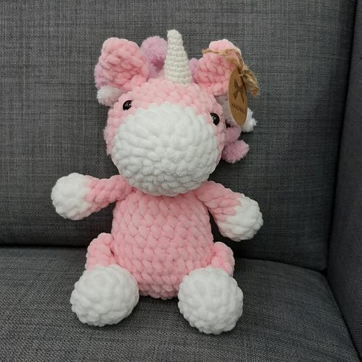 Единорог розовый пушистый
