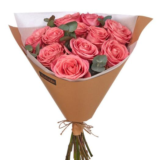 Моно из 11 роз сорта Хермоза