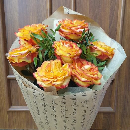 Очаровательный монобукет из эквадорских роз