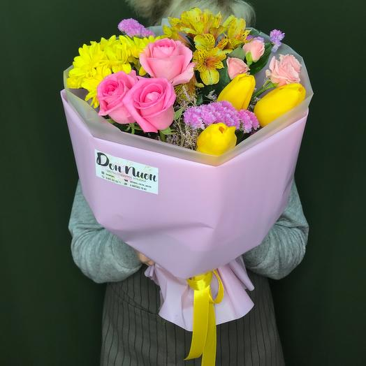 Букет из цветов «Весенние настроение»