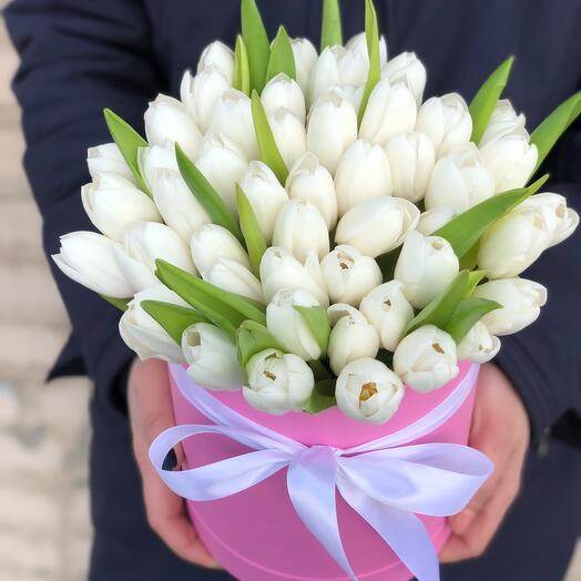 Коробочка Белые Тюльпаны