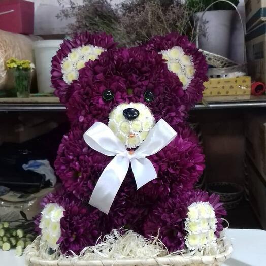 """Игрушки из живых цветов """"Медвежонок"""""""