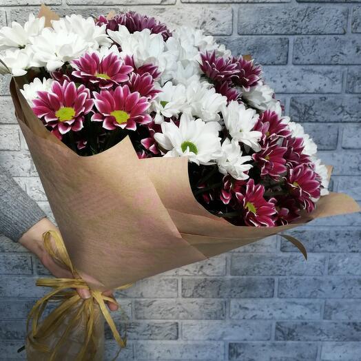 Букет из хризантемы