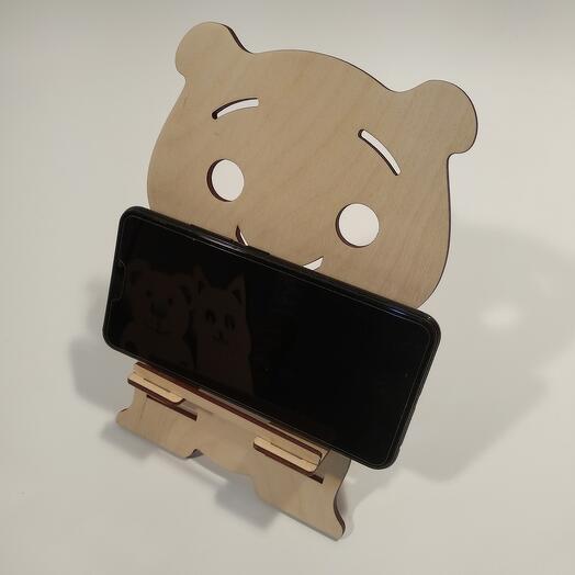 """Подставка под телефон  """"Чудо животное """" 140x207мм подставка под планшет, подставка под книгу"""