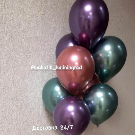 Связка шаров хром 9шт