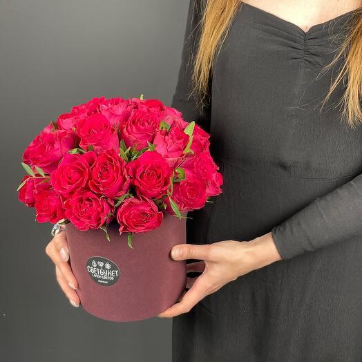 Цветы в коробки  «Бемби»