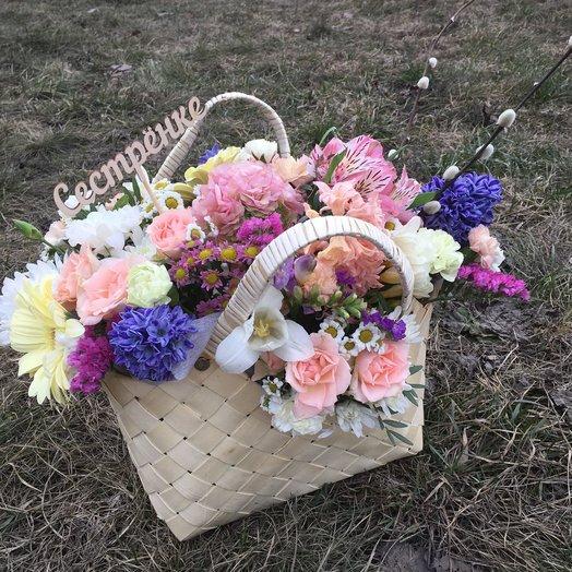 Букет в сумочке: букеты цветов на заказ Flowwow