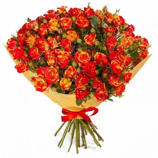 Букет из кустовых роз Феста Баблс