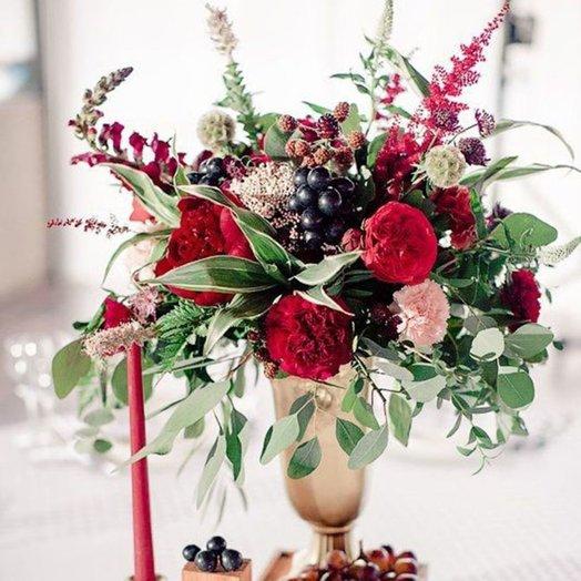 Композиция «Марсала»: букеты цветов на заказ Flowwow