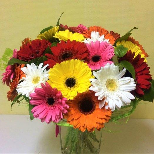 21 гербера: букеты цветов на заказ Flowwow