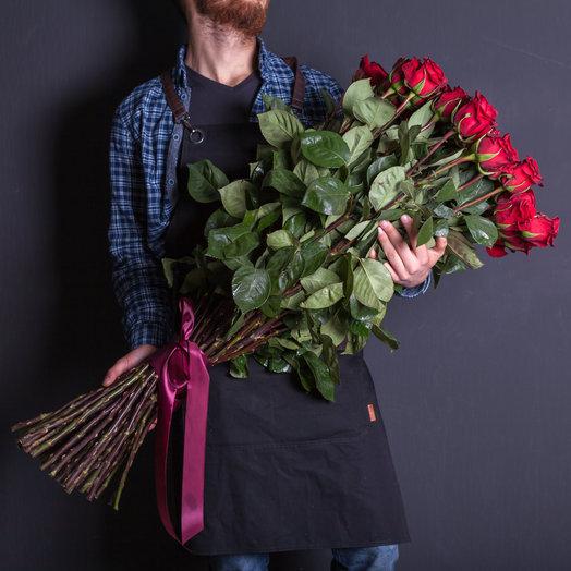 51 роза 100 см, Эквадор : букеты цветов на заказ Flowwow