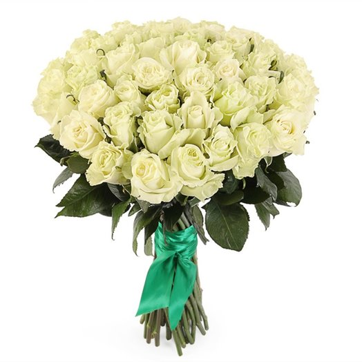 51 Роза вайт 70см: букеты цветов на заказ Flowwow