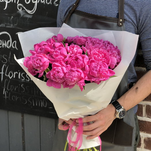 Малиновые Пионы: букеты цветов на заказ Flowwow