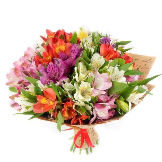 """""""Альстромерия Микс"""": букеты цветов на заказ Flowwow"""