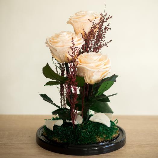 Композиция нежный персик: букеты цветов на заказ Flowwow