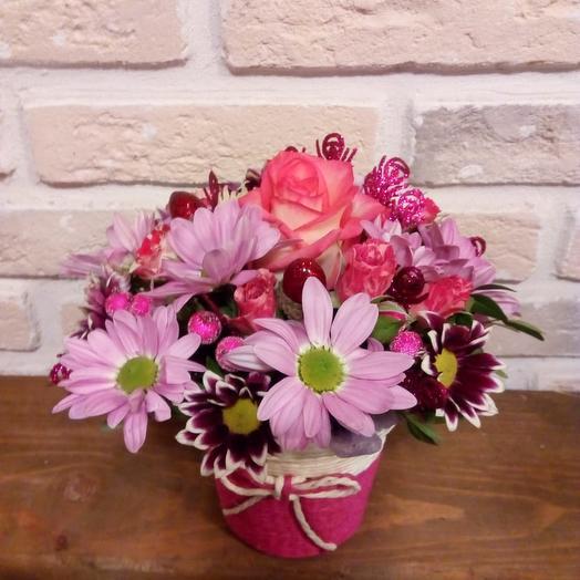 Розовый приветик: букеты цветов на заказ Flowwow