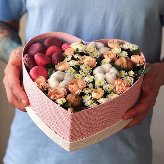 Heart 6 Большое: букеты цветов на заказ Flowwow
