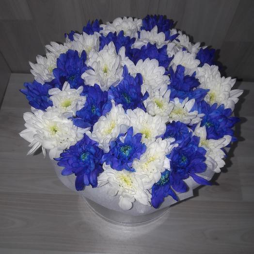 Коробочка из хризантем: букеты цветов на заказ Flowwow