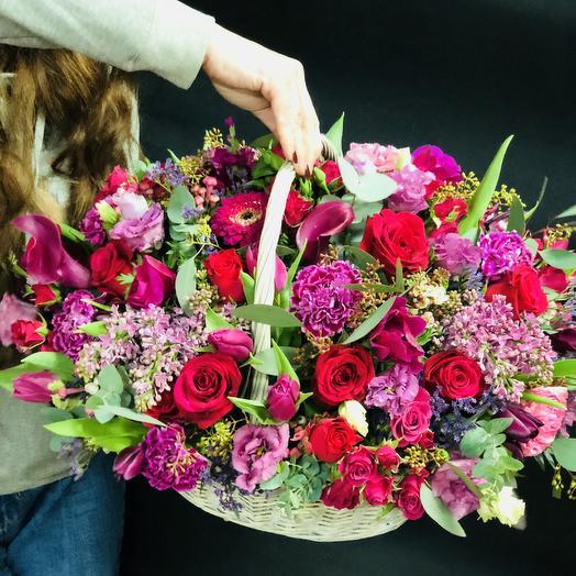 Полевая корзина ): букеты цветов на заказ Flowwow