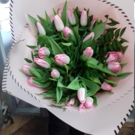 Букет из розовых тюльпанов: букеты цветов на заказ Flowwow