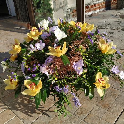 Elegant basket of orchids: flowers to order Flowwow