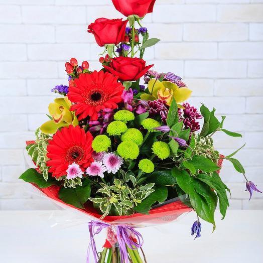 Каскадный букет: букеты цветов на заказ Flowwow