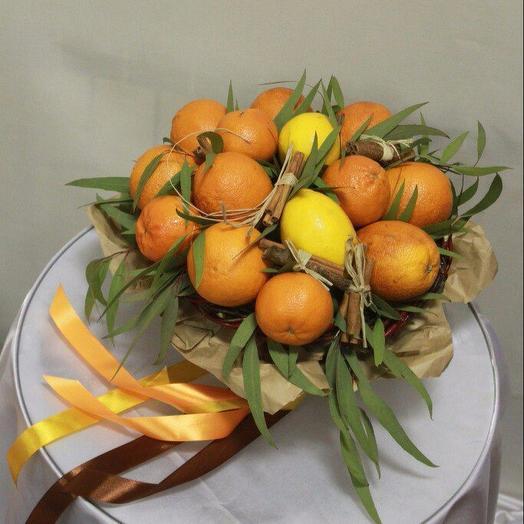 Апельсин и корица: букеты цветов на заказ Flowwow