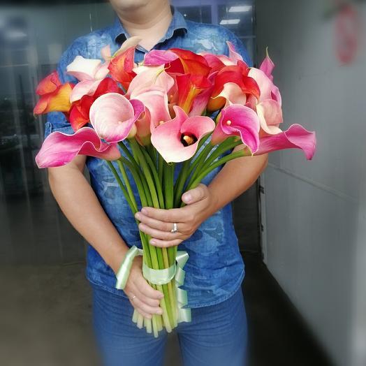 Букет из 29 калл: букеты цветов на заказ Flowwow