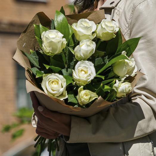 """Букет """"Белоснежный комплимент"""": букеты цветов на заказ Flowwow"""