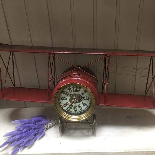 Часы «Самолёт»: букеты цветов на заказ Flowwow