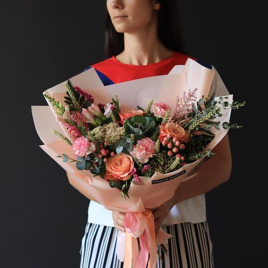 Букет с брассикой: букеты цветов на заказ Flowwow