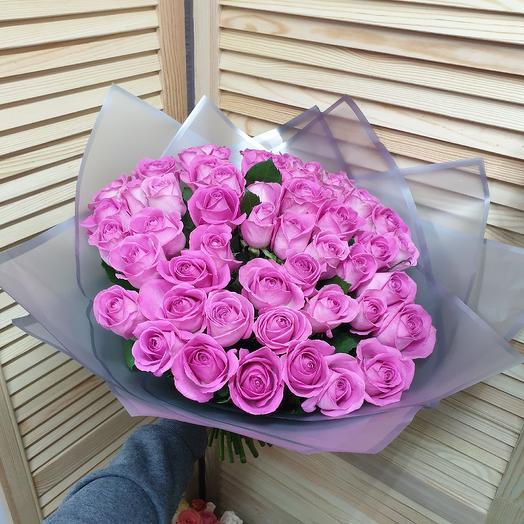 51 розовая роза: букеты цветов на заказ Flowwow
