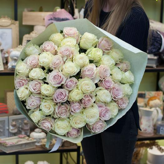 """Букет из роз """"Мондиаль"""": букеты цветов на заказ Flowwow"""