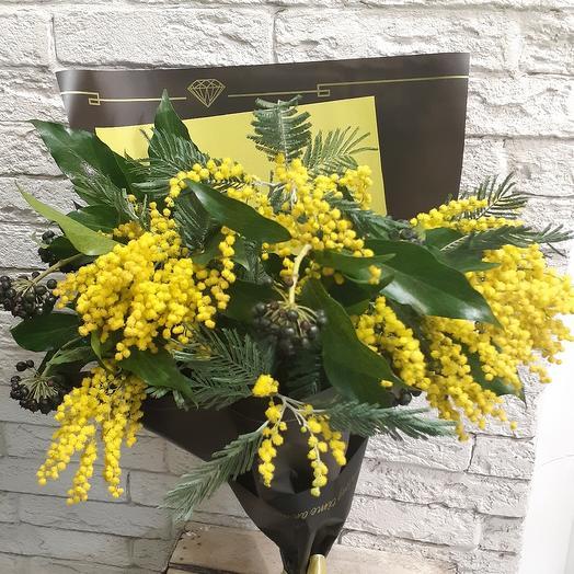 Ароматная мимоза для солнечного настроения: букеты цветов на заказ Flowwow