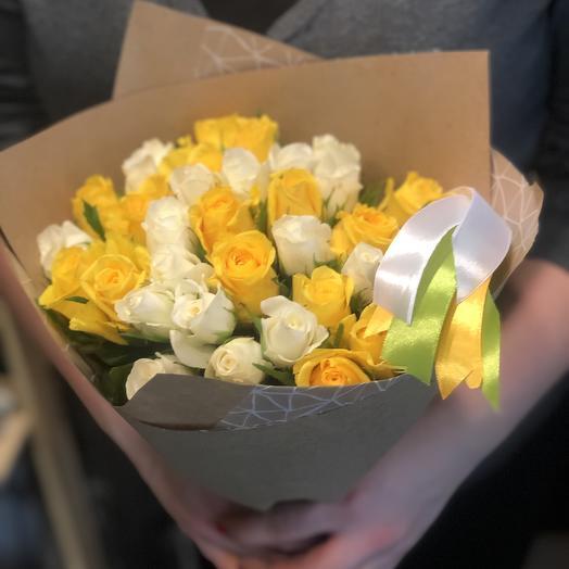 Солнце на снегу: букеты цветов на заказ Flowwow