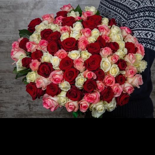 Букет из роз микс 50 см: букеты цветов на заказ Flowwow