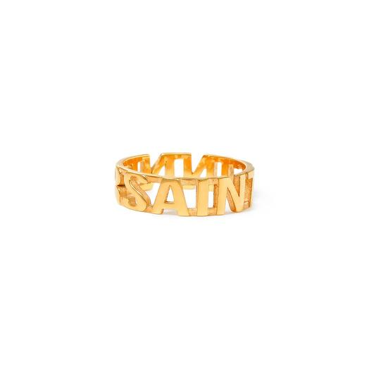Позолоченное кольцо Saint Sinner, размер 17,5: букеты цветов на заказ Flowwow