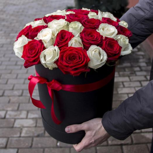 45 роз в коробке микс: букеты цветов на заказ Flowwow