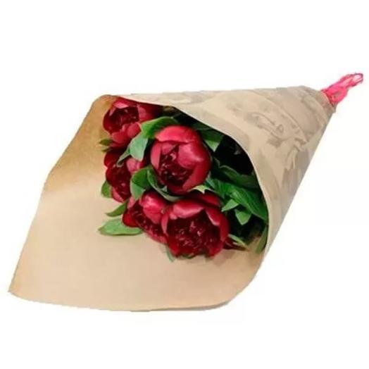Бордовый пион: букеты цветов на заказ Flowwow