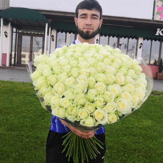 Букет классика 101 белая роза