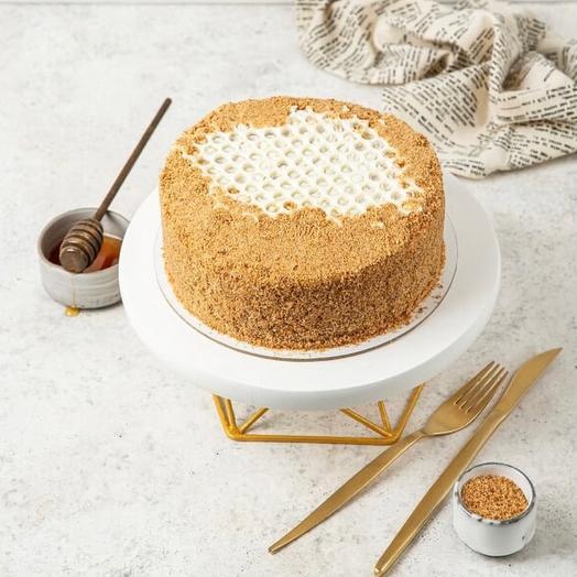 Медовый торт классический с тематикой фруктов