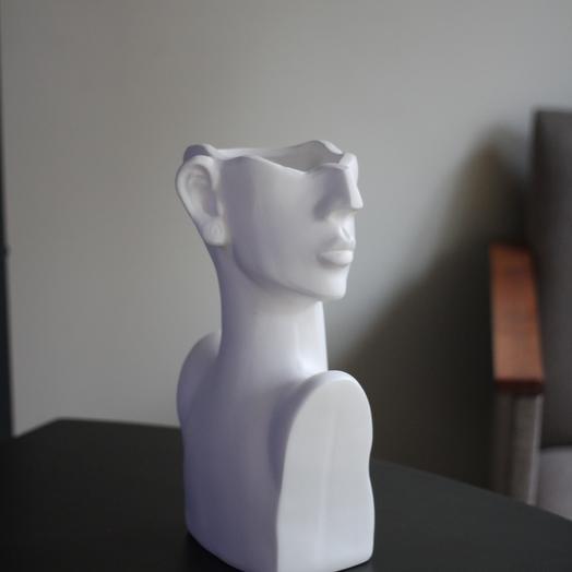 Ваза Голова женщины высокая