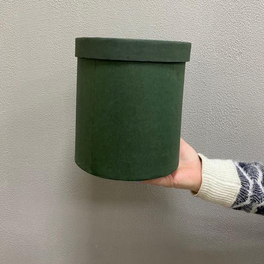 Шляпная коробка средняя (Темно-зелёная)