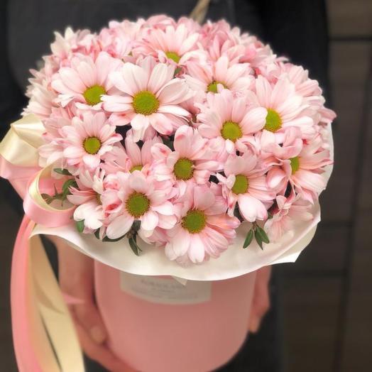 Цветы в коробке «Нежный шелест»