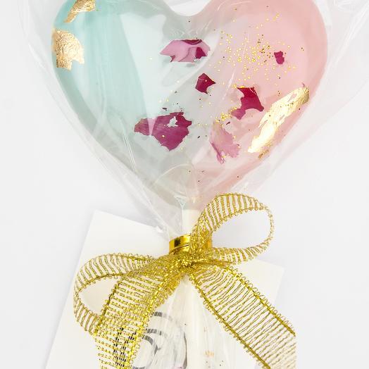 "Леденец из изомальта ""Tiffany and rose gold"""