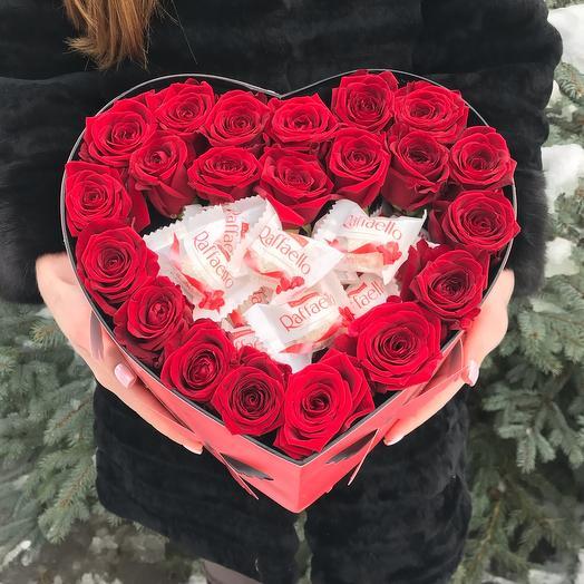 Rosalina 15 Роз в коробке сердце