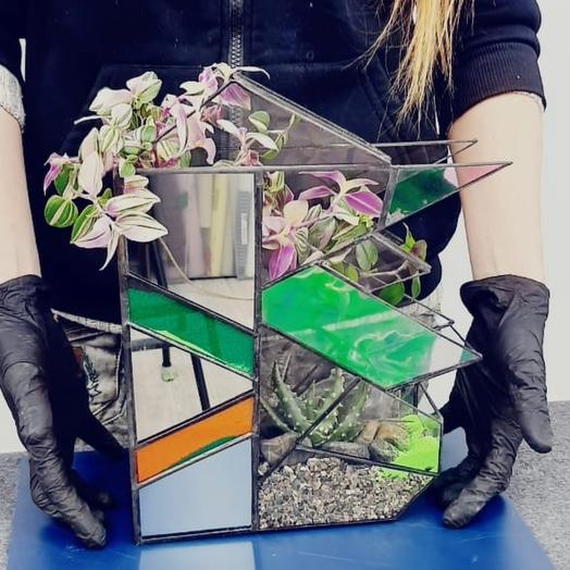 Флорариум с зеркалами