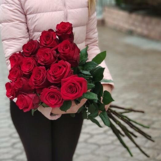 9 Роз Эквадор Эксплорер 80 см